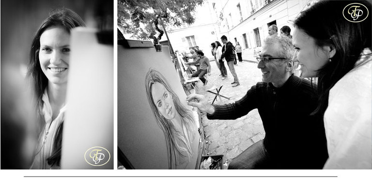 montmartre paintings paris photographer