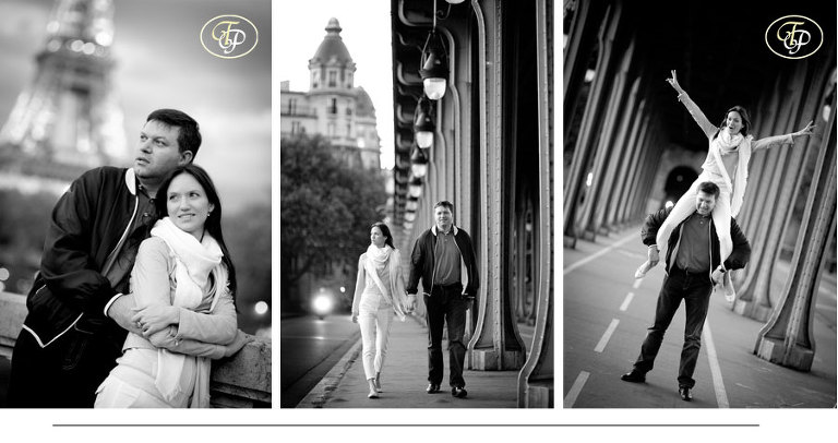 tour eiffel couple engagement photographer paris