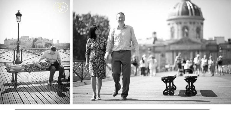 couple photos pont des arts - paris photographer