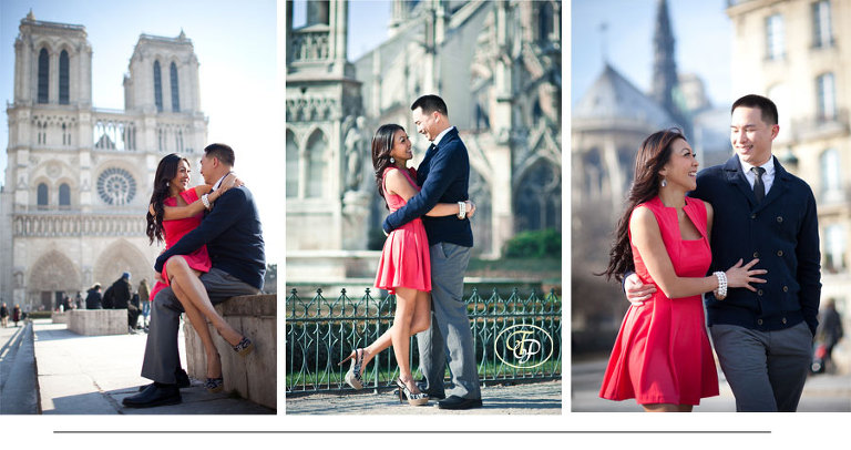 paris couple photo - notre dame