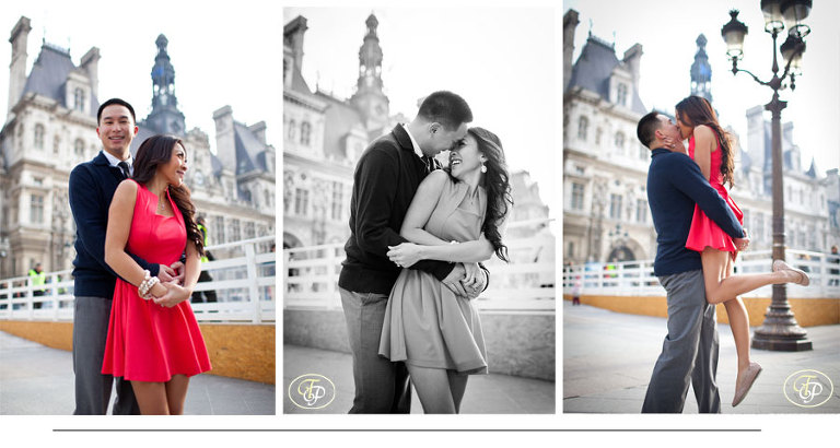 paris city hall - couple engagement photographer