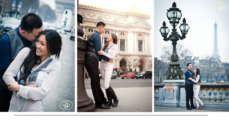 couple engagement paris photography