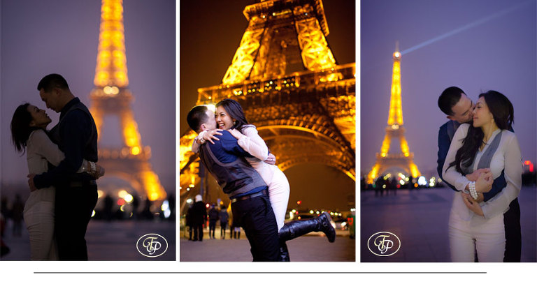 eiffel tower - couple photos - paris photographer