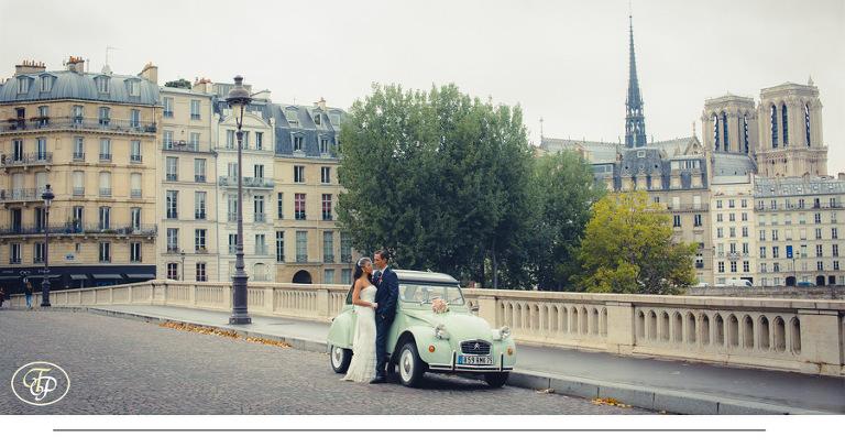 Panoramic wedding vintage picture in Paris - paris-photographer.net