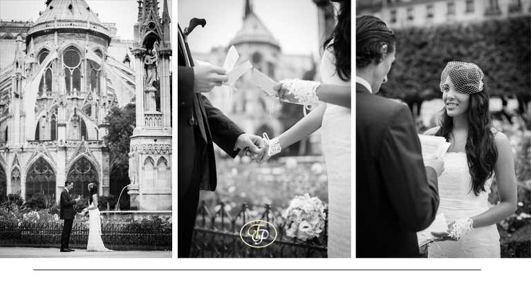 Elopement ceremony at Notre-Dame cathedral - Paris Photography