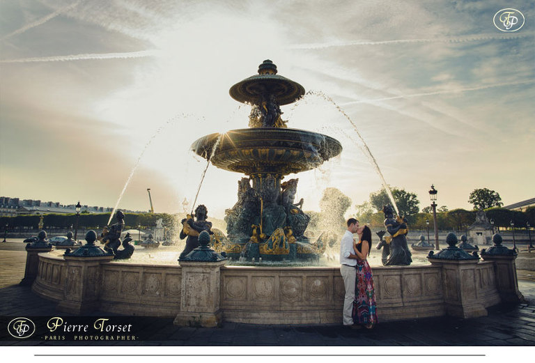 Couple with Concorde Fountain