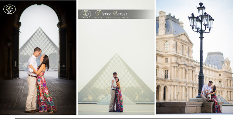 Couple Pictures at Louvre in Paris