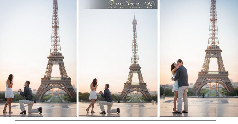 Surprise Proposal at Eiffel Tower