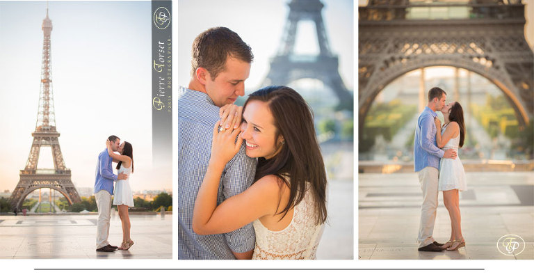 Engagement pictures on trocadero in Paris - France