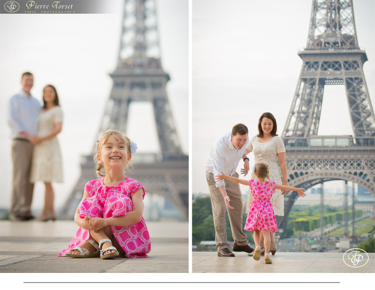 Family photoshoot at Eiffel Tower