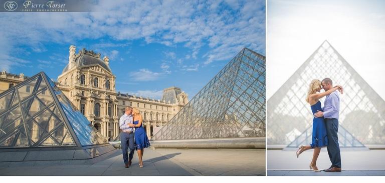 honeymoon pictures in Louvre - Paris