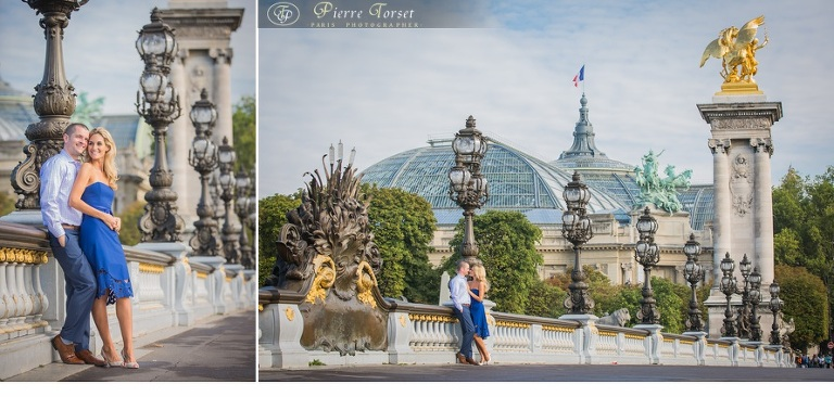honeymoon pictures on Alexandre III bridge in Paris