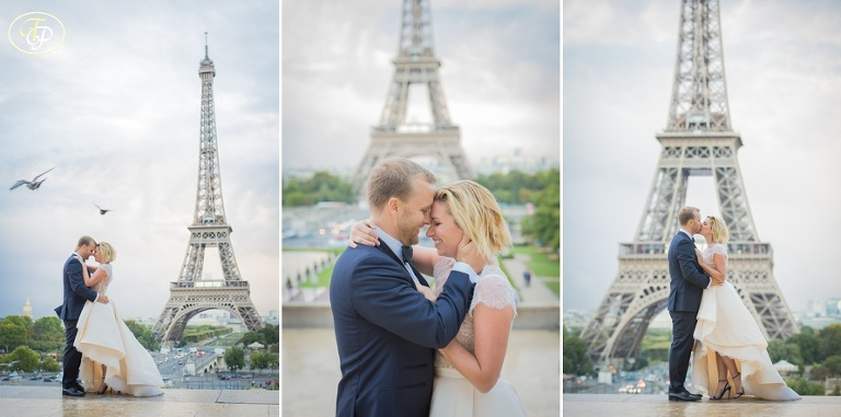 Ceremony at Eiffel Tower in Paris