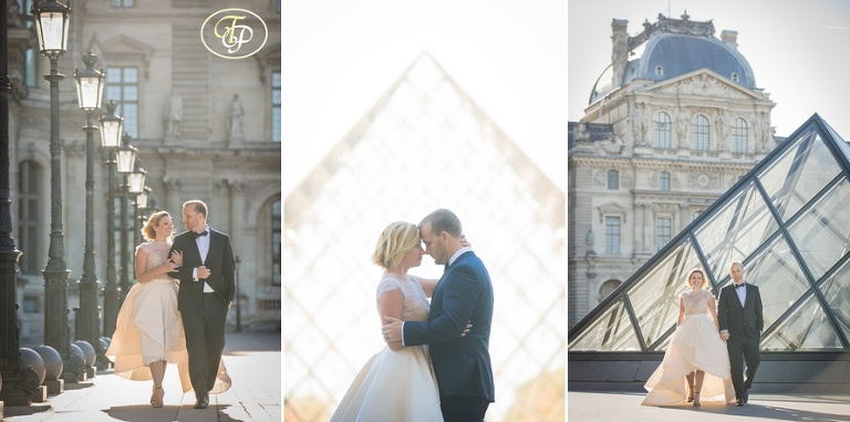 Wedding pictures at Louvre in Paris