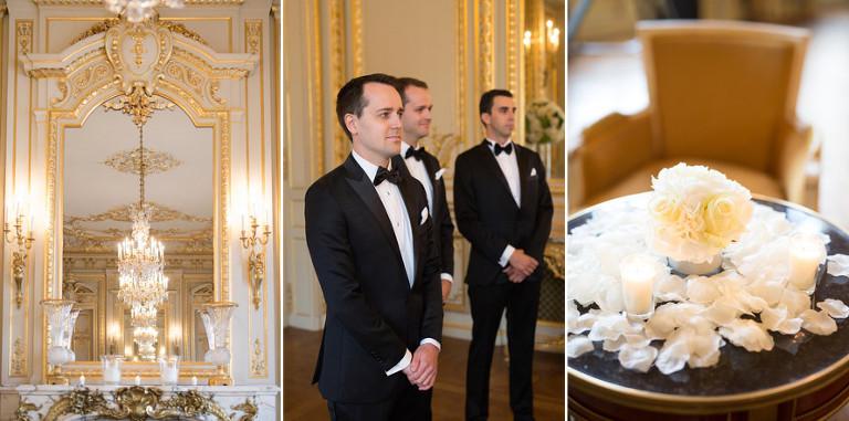 Luxury hotel wedding paris