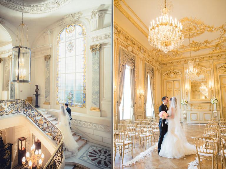 Wedding photographer at the Shangri la in Paris