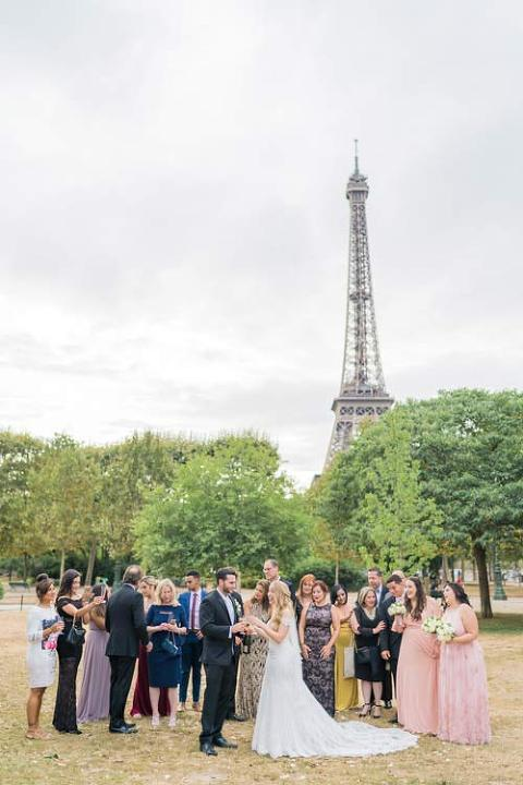 Wedding at Eiffel Tower in Paris