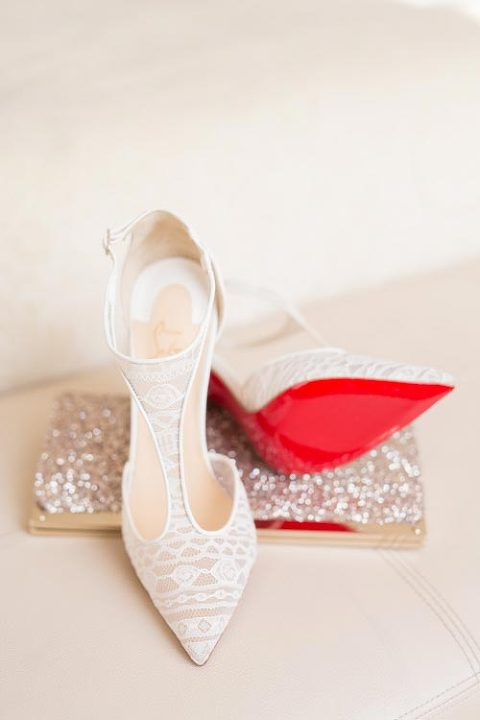 Louboutin photo during Paris wedding