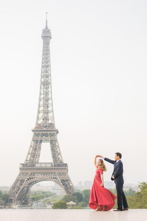 Eiffel Tower twirling