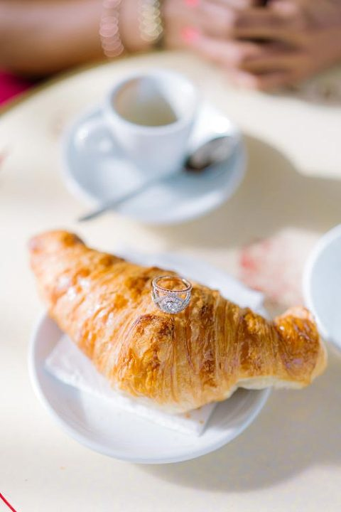 paris engagement ring detail croissant