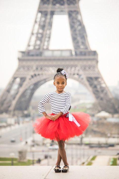 girl portrait eiffel tower