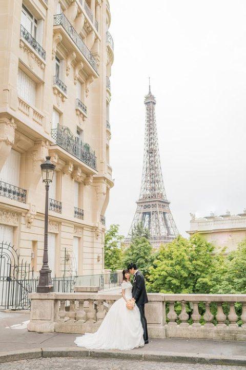 paris prewedding eiffel tower