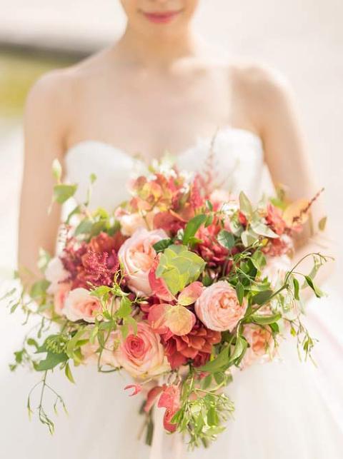 pre wedding paris flowers
