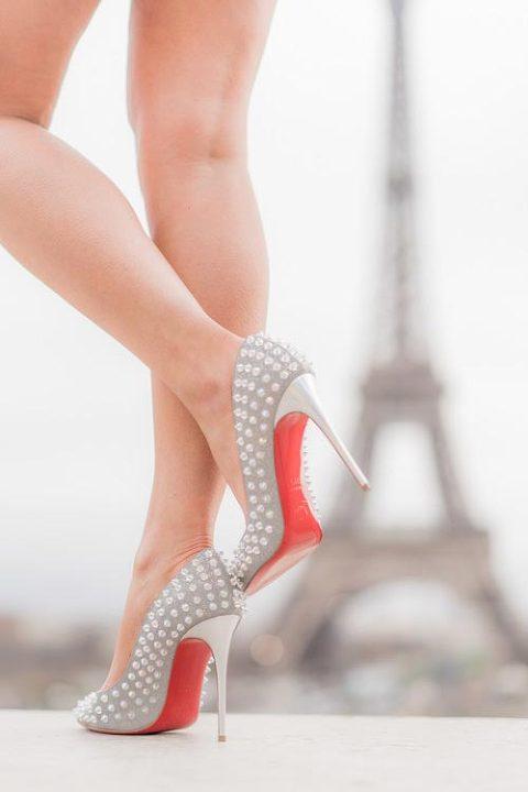 eiffel tower shoe details