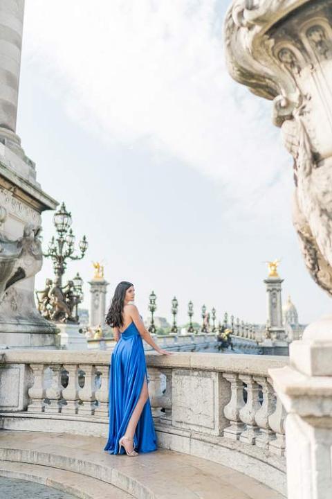 paris photoshoot evening gown