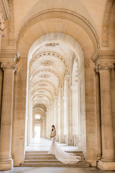 bride elopement paris