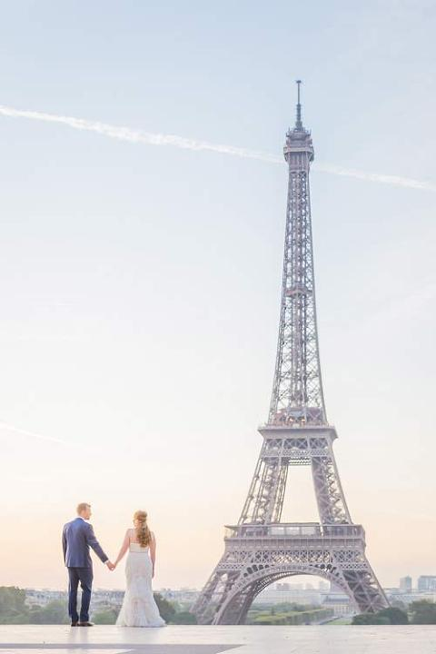 elopement paris eiffel tower