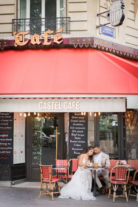 paris elopement cafe