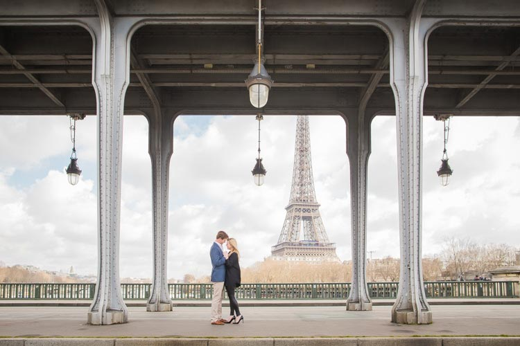 paris engagement under bridge