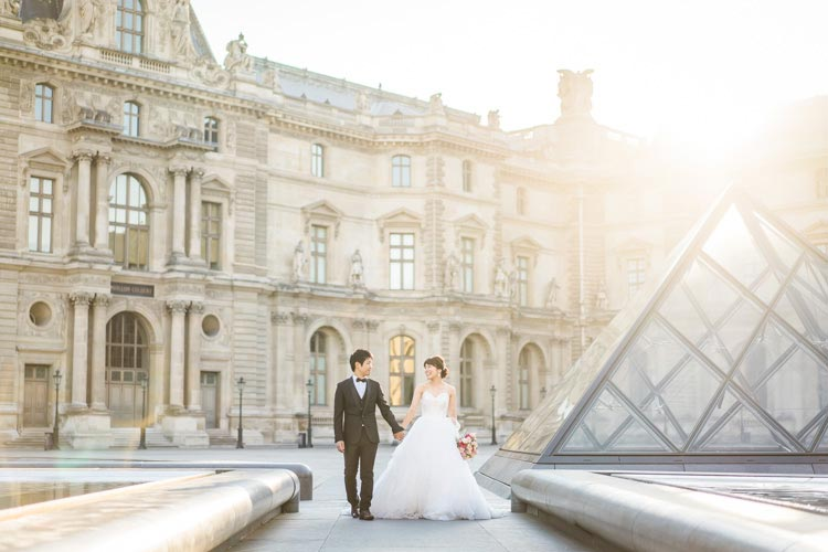 paris louvre prewedding