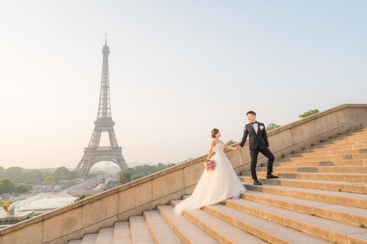 paris pre wedding eiffel tower
