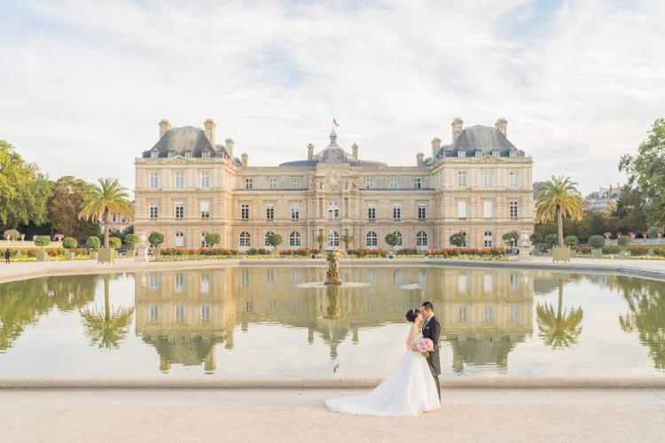 paris pre wedding garden