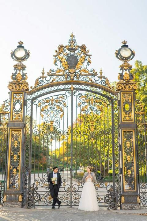 Paris wedding photo Garden