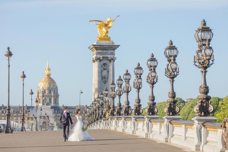 prewedding paris alexander bridge