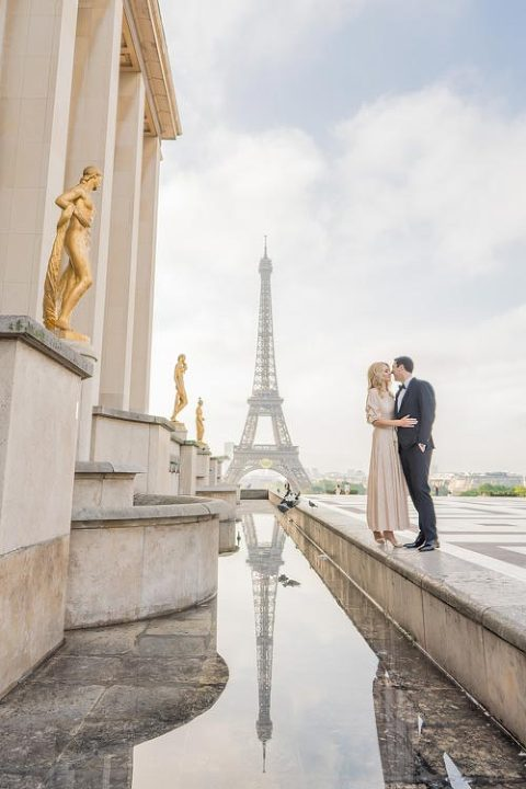 Trocadero couple photoshoot