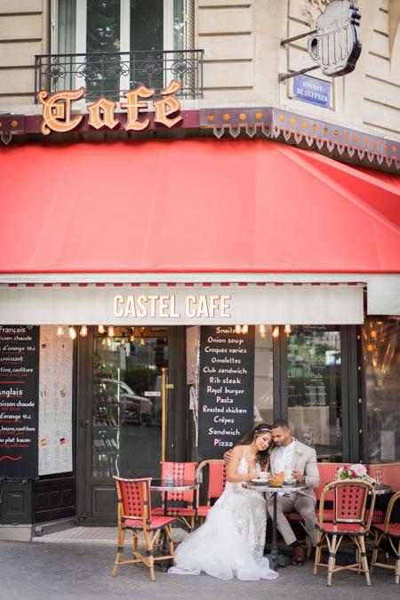 cafe paris wedding photo