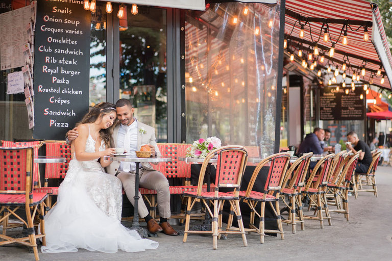 cafe wedding photo paris