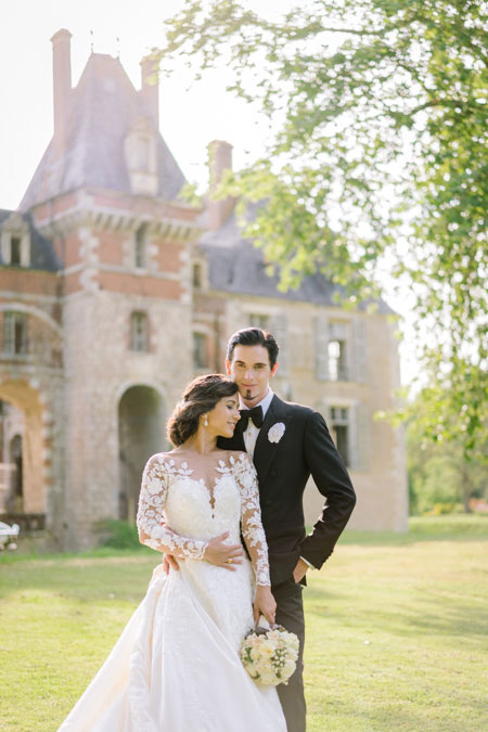 chateau photo session wedding