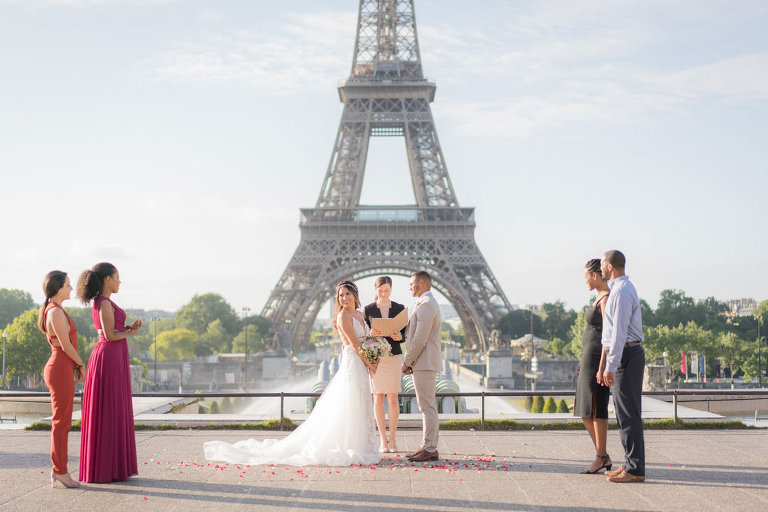 eiffel tower wedding paris