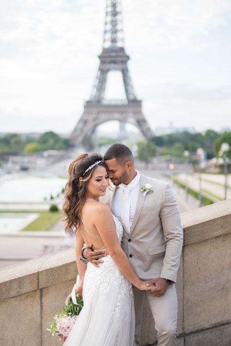 portrait photo wedding paris