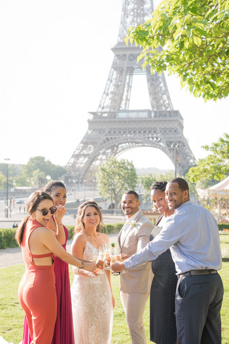 wedding celebration eiffel tower