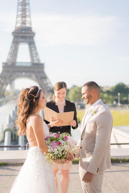 wedding ceremony eiffel tower