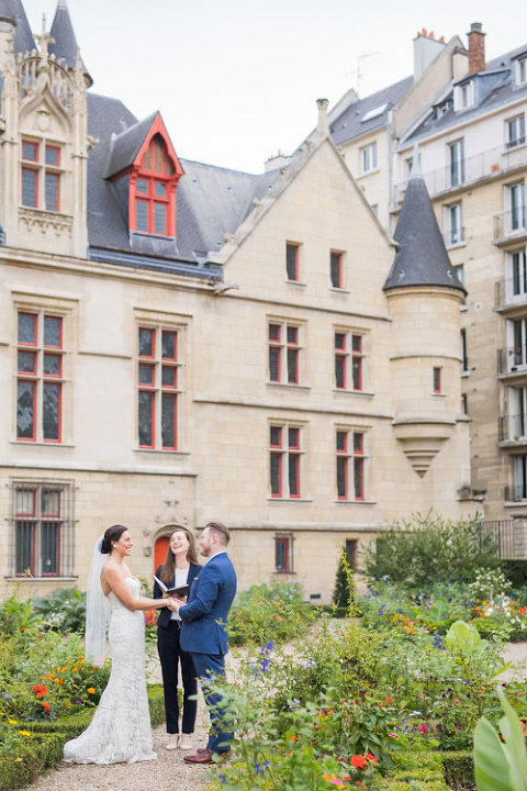 elopement wedding in paris garden