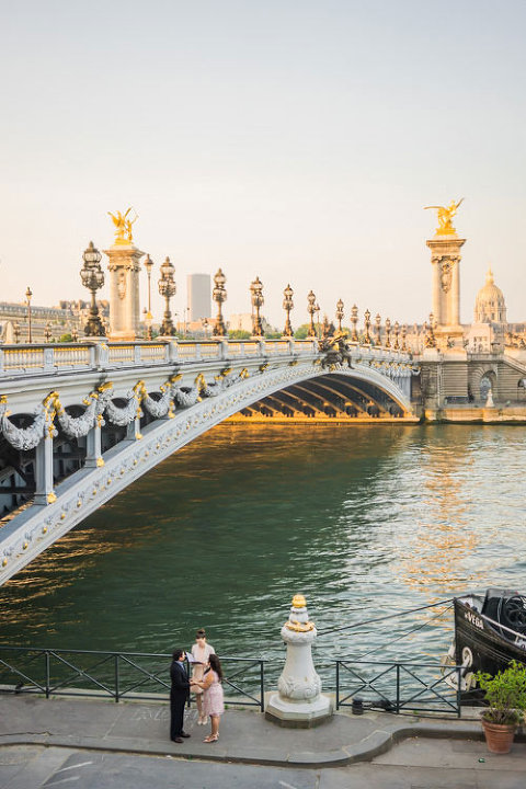 paris elopement bridge