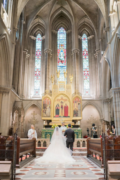 Paris elopement wedding at American Cathedral