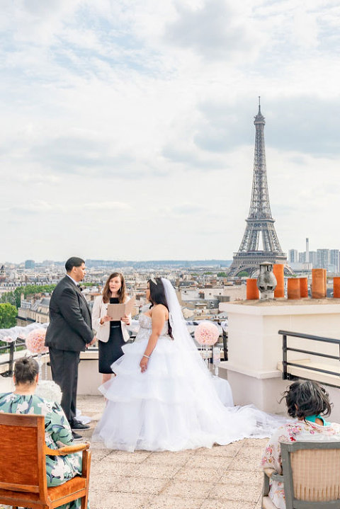 paris elopement wedding rooftop